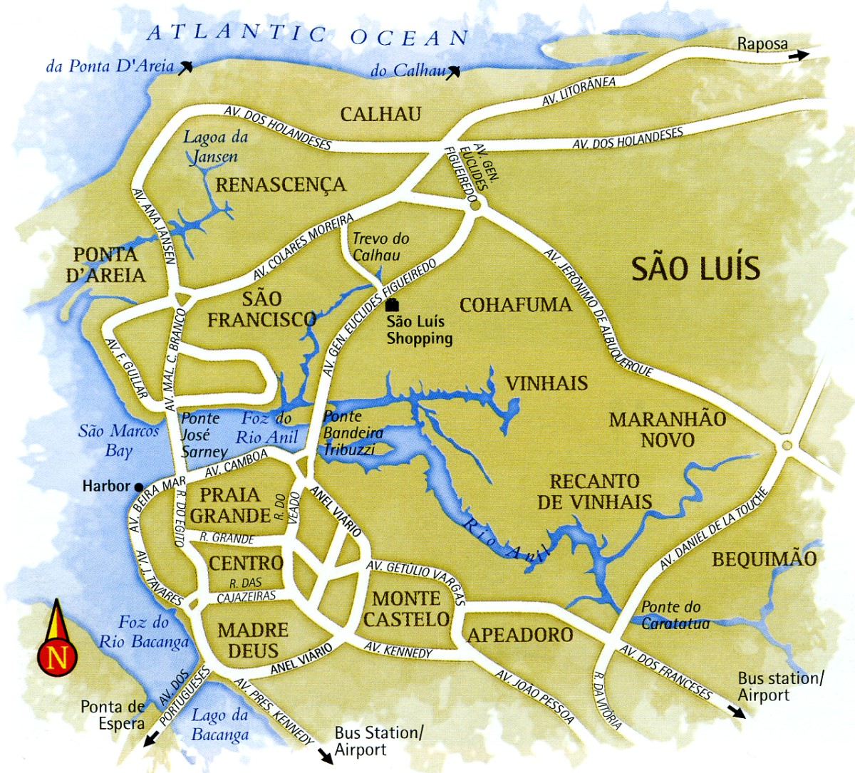 Map of Sao Luis do Maranhao Brazil