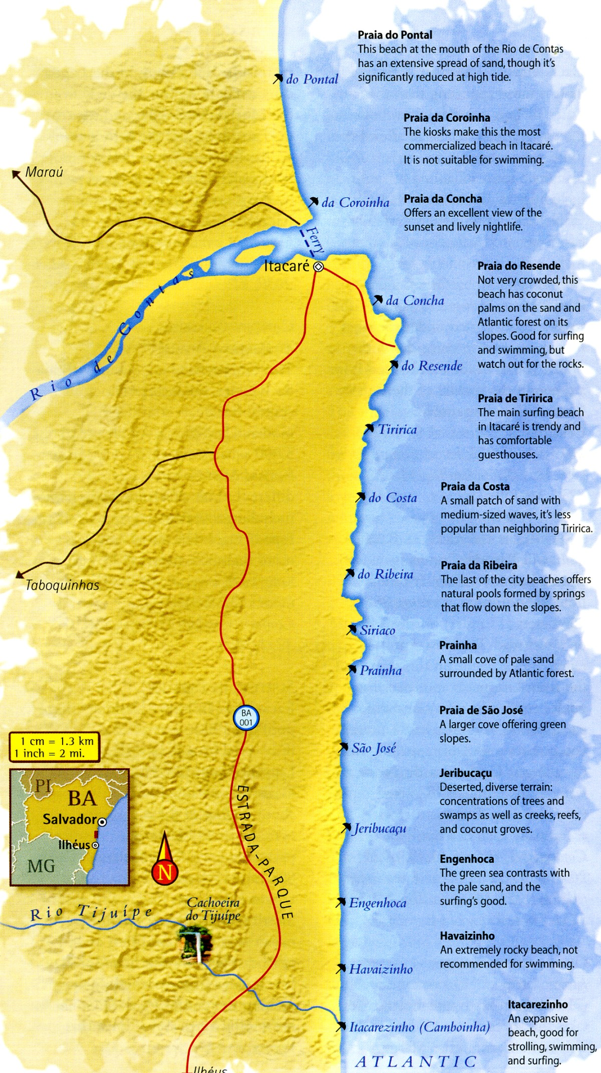 Map of Cocoa Coast Bahia