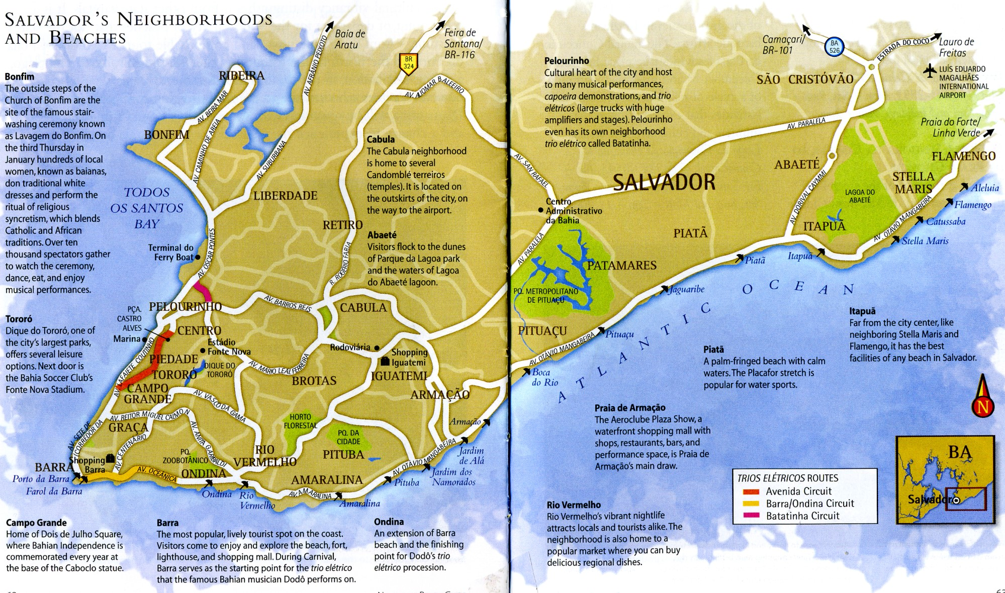 Map of Salvador Bahia