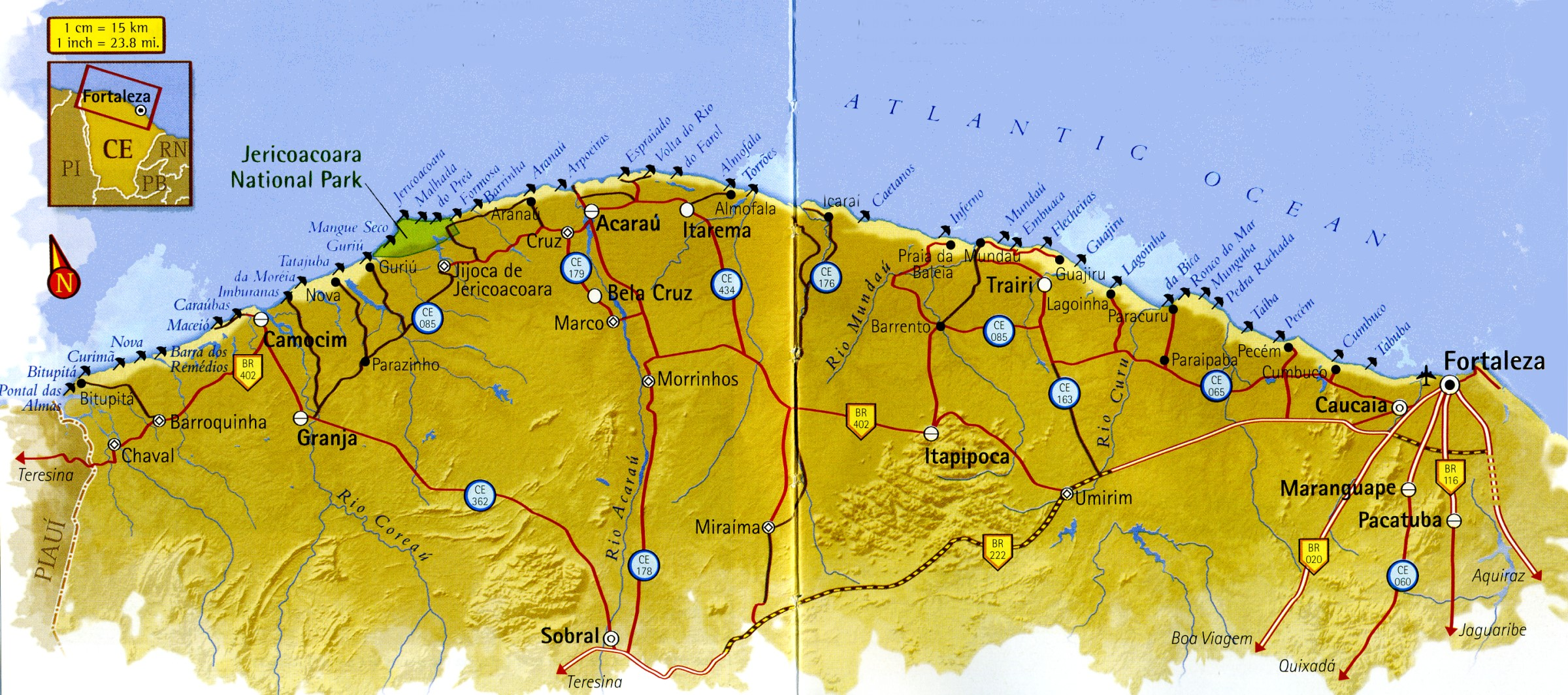 Map of Ceará West Coast Brazil