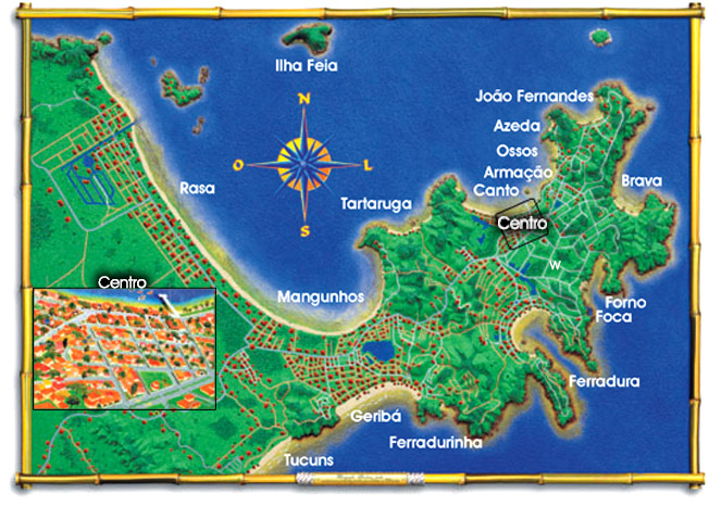 Map of Buzios RJ