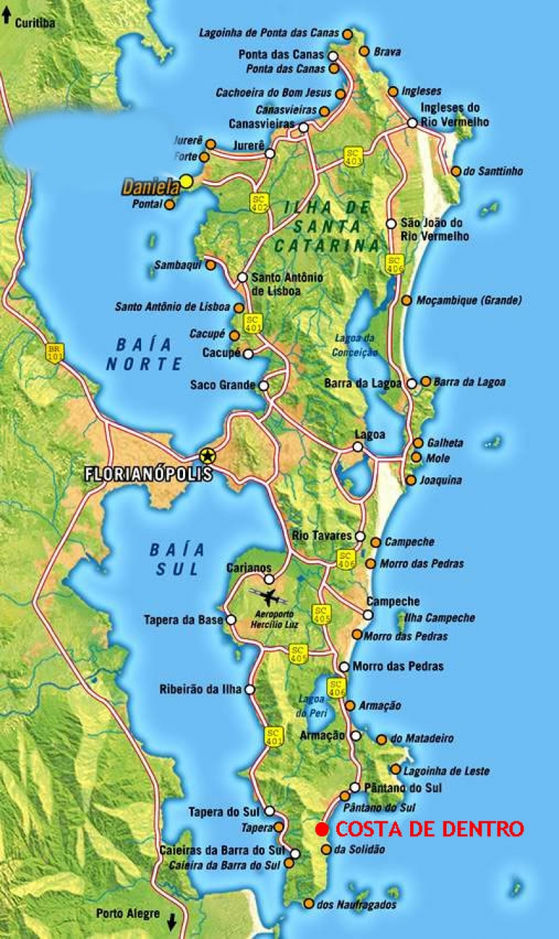 Map of Florianopolis