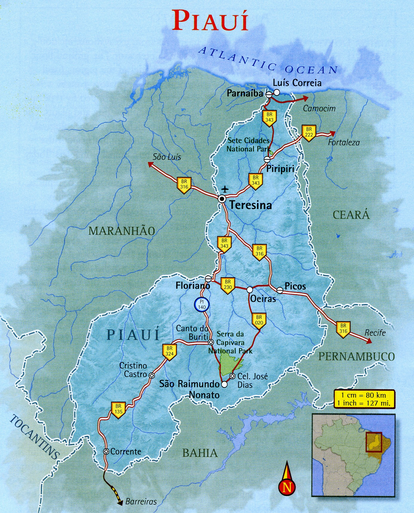 Map of Piauí Brazil